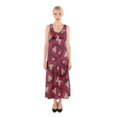 Digital Raspberry Pink Colorful Sleeveless Maxi Dress