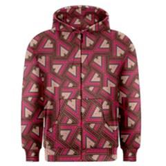 Digital Raspberry Pink Colorful Men s Zipper Hoodie