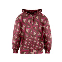 Digital Raspberry Pink Colorful Kids  Zipper Hoodie