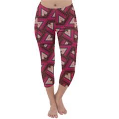 Digital Raspberry Pink Colorful Capri Winter Leggings