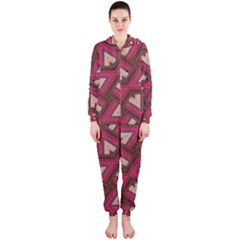Digital Raspberry Pink Colorful Hooded Jumpsuit (ladies)