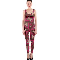 Digital Raspberry Pink Colorful Onepiece Catsuit