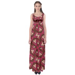 Digital Raspberry Pink Colorful Empire Waist Maxi Dress