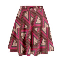 Digital Raspberry Pink Colorful High Waist Skirt