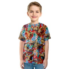 Dragons China Thailand Ornament Kids  Sport Mesh Tee