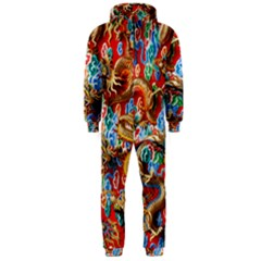 Dragons China Thailand Ornament Hooded Jumpsuit (Men)