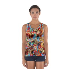 Dragons China Thailand Ornament Women s Sport Tank Top