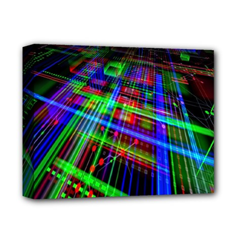 Electronics Board Computer Trace Deluxe Canvas 14  x 11