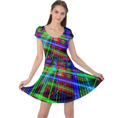 Electronics Board Computer Trace Cap Sleeve Dresses