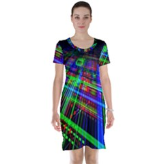 Electronics Board Computer Trace Short Sleeve Nightdress