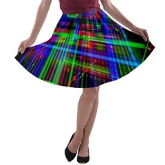 Electronics Board Computer Trace A-line Skater Skirt