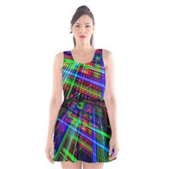 Electronics Board Computer Trace Scoop Neck Skater Dress
