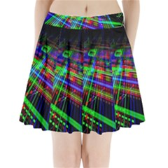 Electronics Board Computer Trace Pleated Mini Skirt
