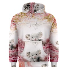 Elephant Heart Plush Vertical Toy Men s Pullover Hoodie