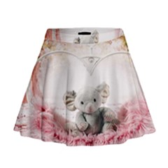 Elephant Heart Plush Vertical Toy Mini Flare Skirt