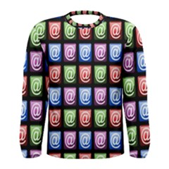 Email At Internet Computer Web Men s Long Sleeve Tee