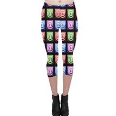 Email At Internet Computer Web Capri Leggings