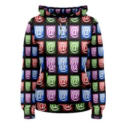 Email At Internet Computer Web Women s Pullover Hoodie