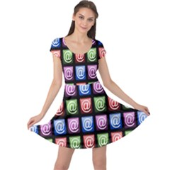 Email At Internet Computer Web Cap Sleeve Dresses