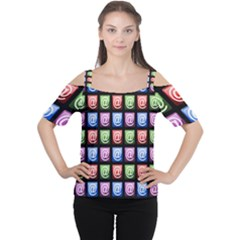Email At Internet Computer Web Women s Cutout Shoulder Tee