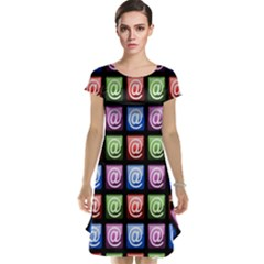 Email At Internet Computer Web Cap Sleeve Nightdress