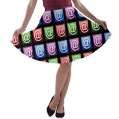Email At Internet Computer Web A Line Skater Skirt