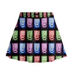 Email At Internet Computer Web Mini Flare Skirt