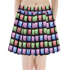 Email At Internet Computer Web Pleated Mini Skirt