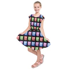 Email At Internet Computer Web Kids  Short Sleeve Dress