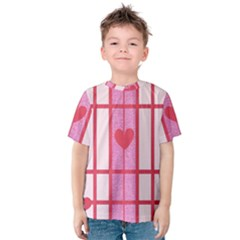 Fabric Magenta Texture Textile Love Hearth Kids  Cotton Tee