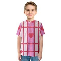 Fabric Magenta Texture Textile Love Hearth Kids  Sport Mesh Tee