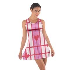 Fabric Magenta Texture Textile Love Hearth Cotton Racerback Dress