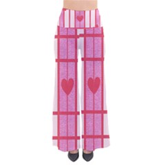 Fabric Magenta Texture Textile Love Hearth Pants