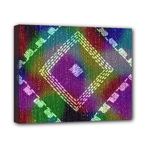 Embroidered Fabric Pattern Canvas 10  x 8