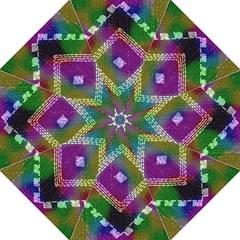 Embroidered Fabric Pattern Straight Umbrellas