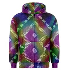 Embroidered Fabric Pattern Men s Zipper Hoodie