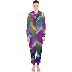 Embroidered Fabric Pattern Hooded Jumpsuit (Ladies)