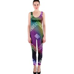 Embroidered Fabric Pattern OnePiece Catsuit