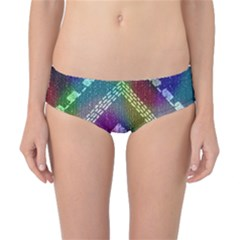 Embroidered Fabric Pattern Classic Bikini Bottoms