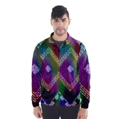 Embroidered Fabric Pattern Wind Breaker (Men)