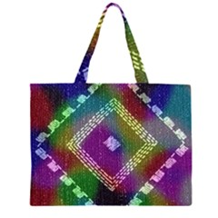 Embroidered Fabric Pattern Large Tote Bag