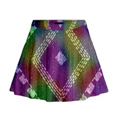 Embroidered Fabric Pattern Mini Flare Skirt