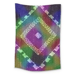 Embroidered Fabric Pattern Large Tapestry