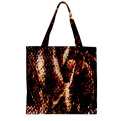 Fabric Yikes Texture Zipper Grocery Tote Bag