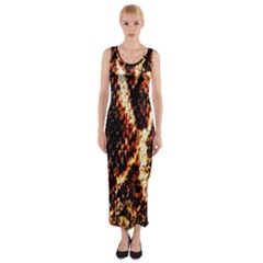 Fabric Yikes Texture Fitted Maxi Dress