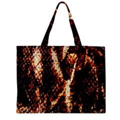 Fabric Yikes Texture Medium Zipper Tote Bag