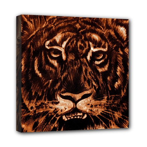 Eye Of The Tiger Mini Canvas 8  x 8