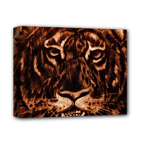 Eye Of The Tiger Deluxe Canvas 14  x 11