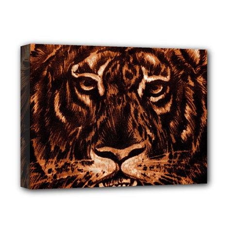 Eye Of The Tiger Deluxe Canvas 16  x 12