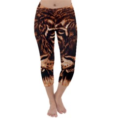 Eye Of The Tiger Capri Winter Leggings